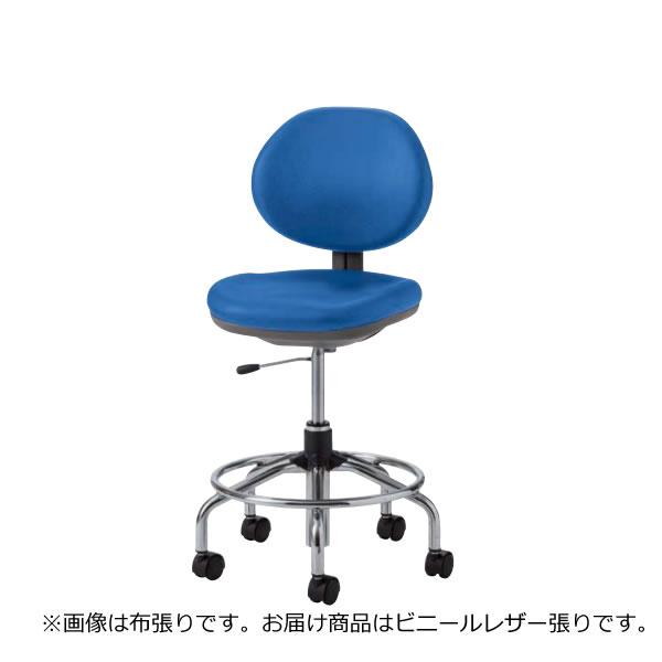 オフィスチェアー オフィスチェア 椅子 TE-H型 ハイチェア 肘なし ビニールレザー張り リング付き TE-HT65L