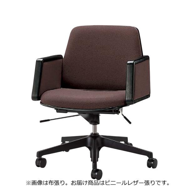 会議用チェア オフィスチェア 椅子 TNS型 幕板肘付き ビニールレザー張り TNS-H6L