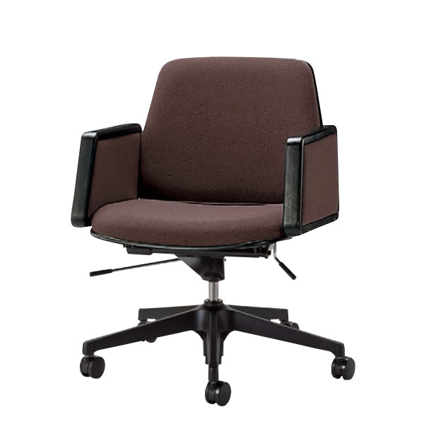 会議用チェア オフィスチェア 椅子 TNS型 幕板肘付き 布張り TNS-H6N