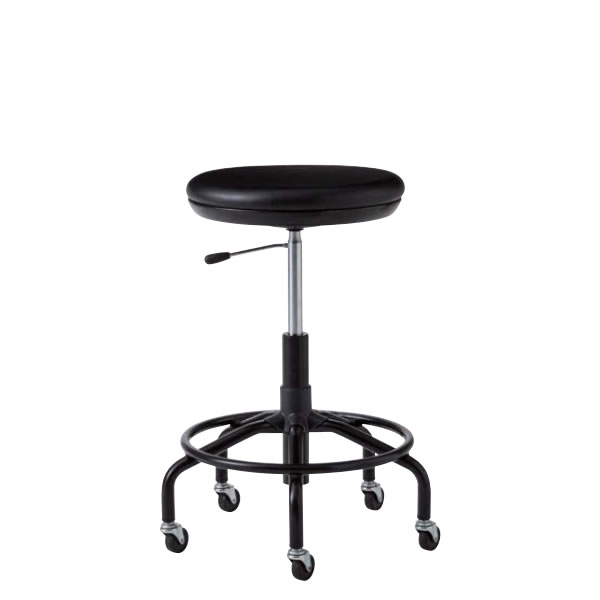 作業用チェア 作業椅子 作業用椅子 高作業用スツール TSM型 塗装脚 ビニールレザー張り ガス上下調節 TSM-BT6