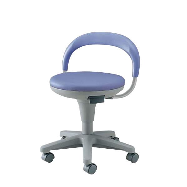 作業用チェア 作業椅子 作業用椅子 丸椅子 スツール 背付き キャスター付き ガス上下調節 TSS-K18L