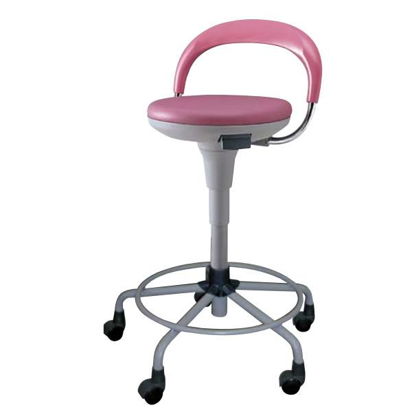 高作業用チェアー 作業用チェア 作業椅子 作業用椅 ハイスツール 背付き リング付き キャスター付き ガス上下調節 TSS-KT19RL