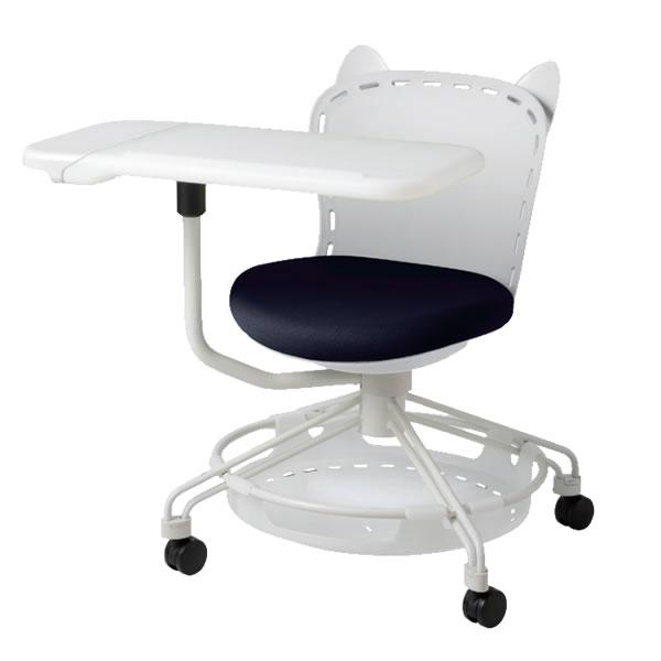 メモ台付き テレワーク 在宅 アクティブラーニング 椅子 猫耳FRUチェア ワイドタイプテーブル付 荷物置き付き FRU-S22