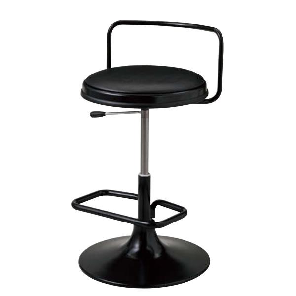ひな壇チェア カウンターチェア ハイスツール 円盤脚 椅子 ガス上下調節 HDC-B16L