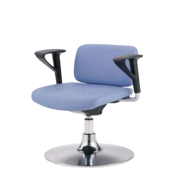 診察室 患者用 椅子 診察 診療チェア メディカルチェア 背付き 肘付き 円盤 固定脚 ガス上下調節 LLS-SB02