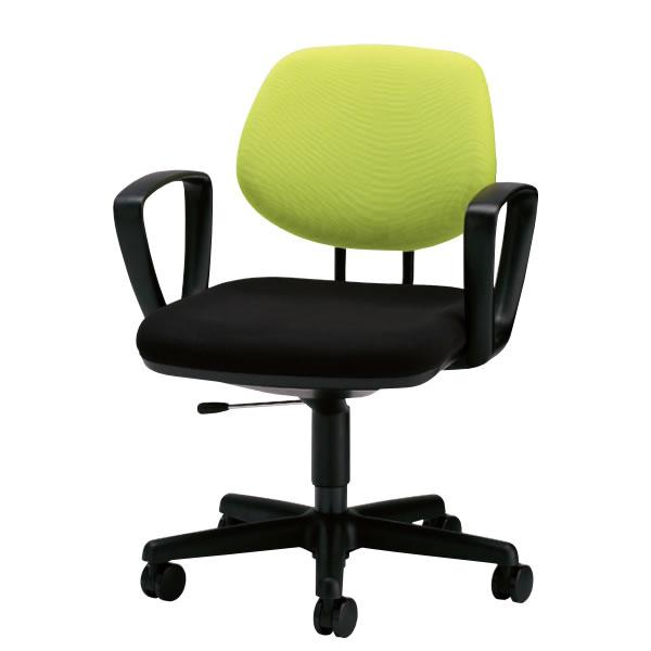 オフィスチェア デスクチェア 椅子 キープチェア 肘付 布張り ローバック NEL-6AC