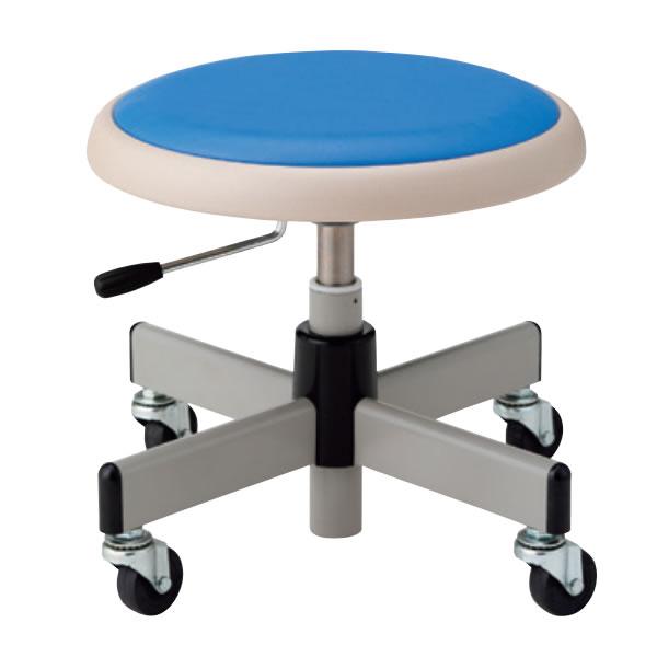 低床 作業椅子 低作業用チェア 低い作業用スツール 椅子 ブロー成型パッド付座 キャスター付き 座回転 上下機能付 TAC-H36L-Z
