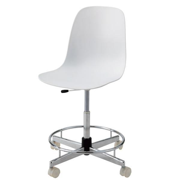 クリーンチェア 高作業用チェア 作業椅子 作業 椅子 オフィスチェア ガス上下調節 ナイロン双輪キャスター付き TCC-30LN