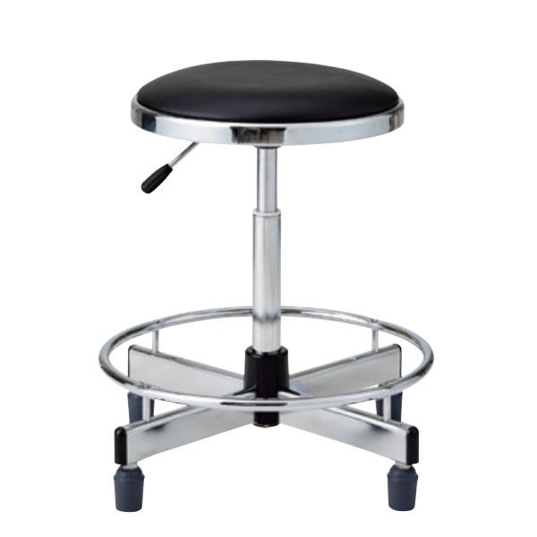 作業用チェア 作業椅子 製図オペレーター カウンター用イス 椅子 ガス上下調節 ゴム固定脚 足掛けリング付き TD-35LRN-Z
