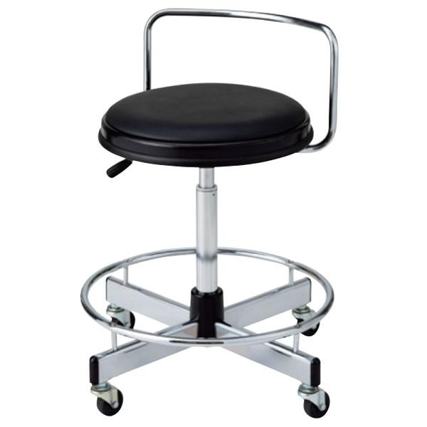作業用チェア 作業椅子 製図オペレーター カウンター用イス 椅子 ガス上下調節 キャスター脚 足掛けリング付き 背付き TD-B16LN-Z