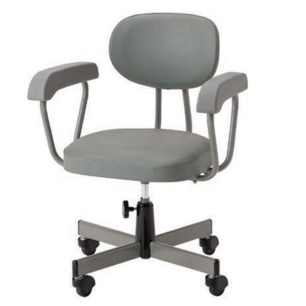 オフィスチェア 事務椅子 G法対応チェア 肘付き 手動上下調節 キャスター付き TN-230