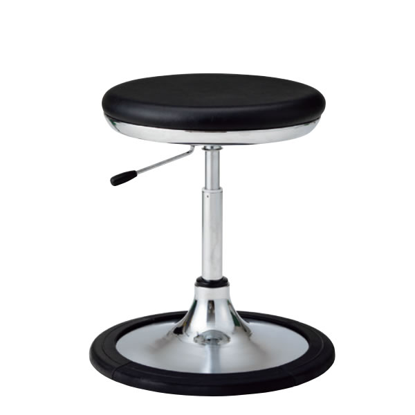 作業用チェア 作業椅子 作業スツール 椅子 ガス上下調節 背パイプ無し 円盤脚 樹脂プロテクタ付き TSM-J13L-Z