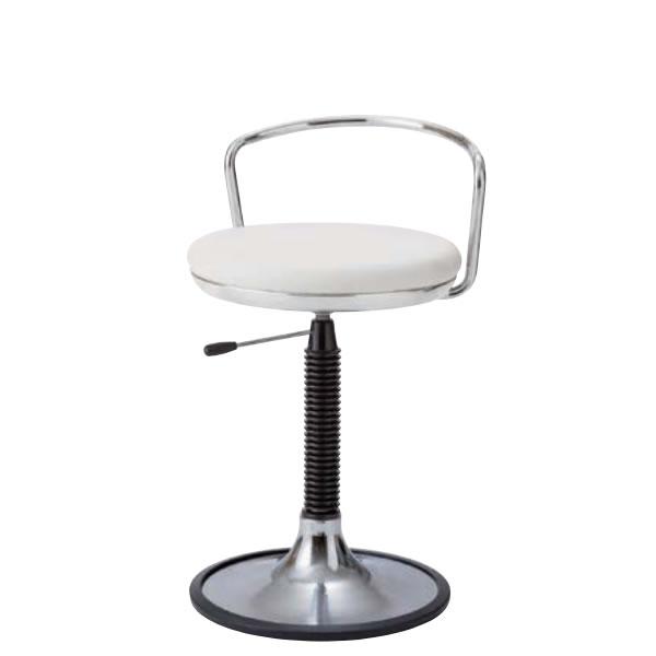 椅子スツール 患者用チェア メディカルチェア 背パイプ付き 円盤脚 ラバープロテクタ付き ガス上下調節 TSM-PM113L