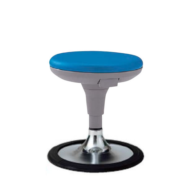 丸椅子 丸イス スツール ラウンドチェア 背なし 円盤脚 樹脂プロテクタ付き キャスターなし ガス上下調節 TSS-J13B