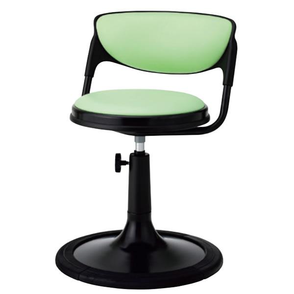 椅子 回転椅子 患者用チェア メディカルチェア 背付き 円盤脚 樹脂プロテクタ付き 手動上下調節 TD-JB13S