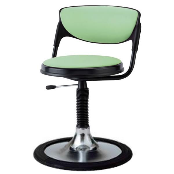椅子 回転椅子 患者用チェア メディカルチェア 背付き 円盤脚 樹脂プロテクタ付き ガス上下調節 TD-JB13SL