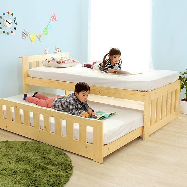 ずっと使える親子すのこベッド【Panda-パンダ-】(ベッド すのこ 収納) SO-HT-0545