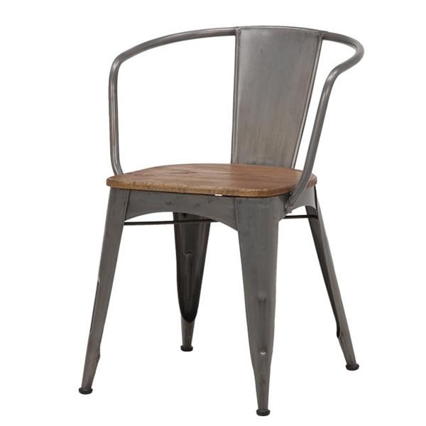 萩原 RIBERTA リベルタ アイアン×ウッド チェアー 2脚セット 木製座面 椅子 幅53.5cm高さ75cm奥行59cm座面高45cm【RC-2900】2101457100