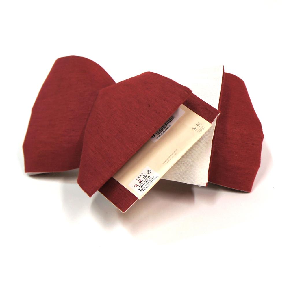 半幅帯 リバーシブル 浴衣 小袋帯 お洒落な半巾帯 浴衣帯 【赤×白 お散歩ネコ柄】 hob11206