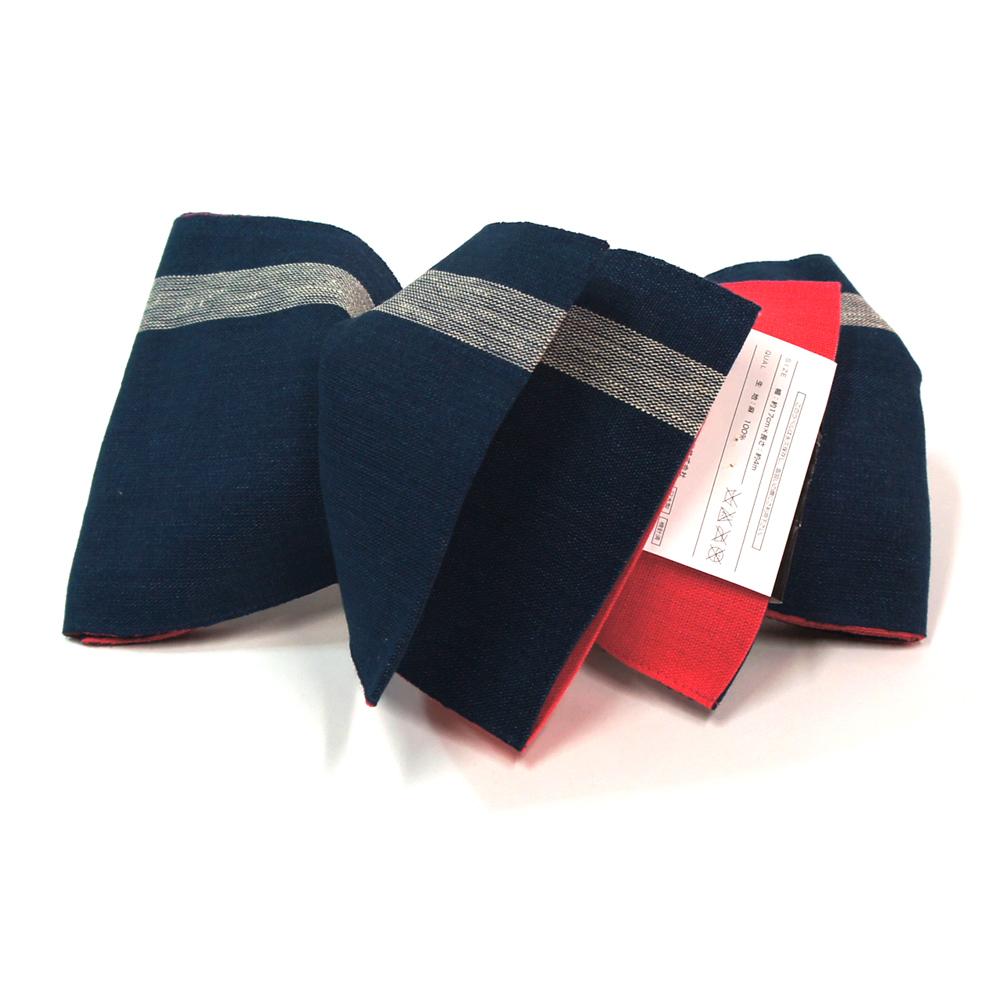 半幅帯 リバーシブル 浴衣 小袋帯 お洒落な半巾帯 浴衣帯 【ネイビー】 hob11207