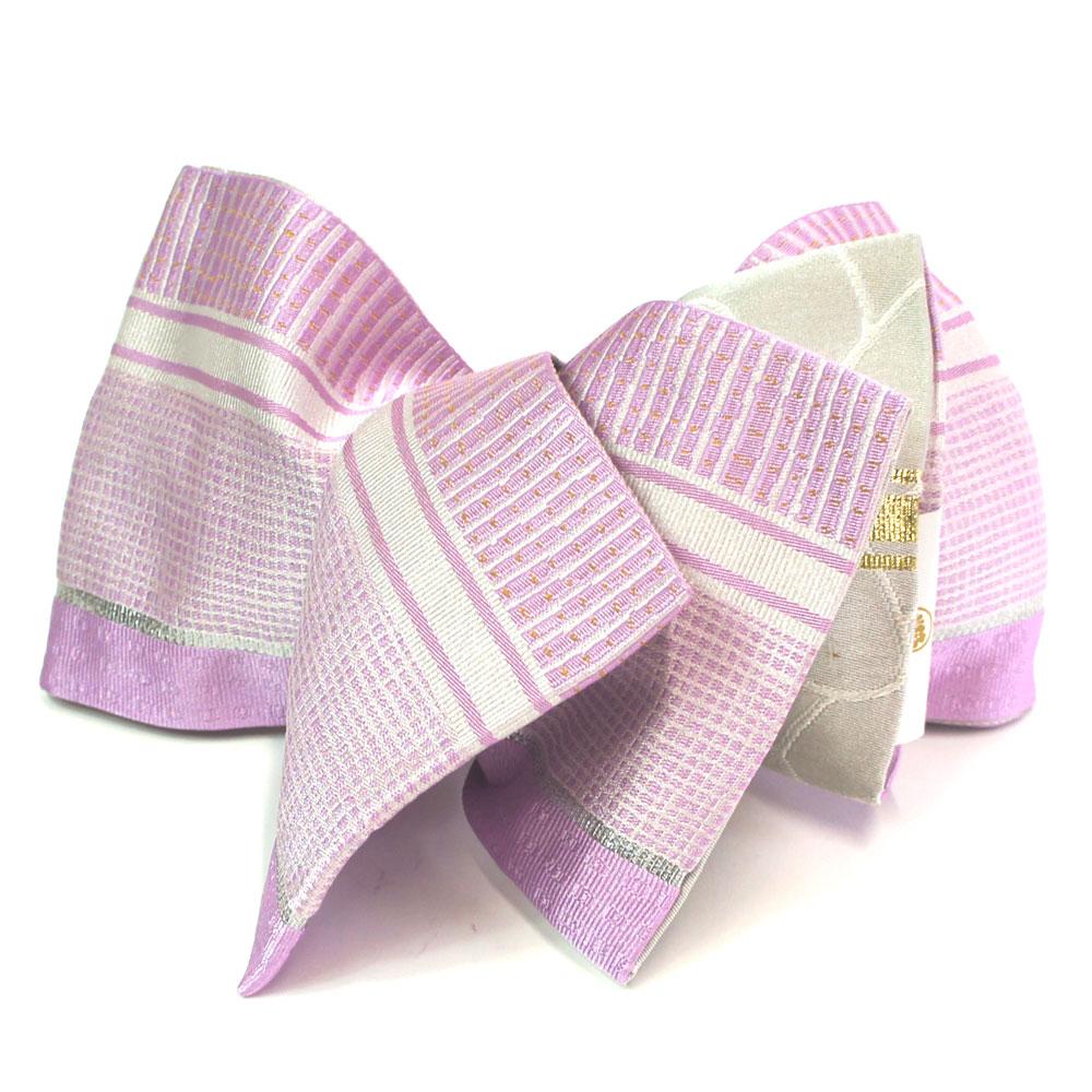 半幅帯 リバーシブル 浴衣 小袋帯 お洒落な半巾帯 浴衣帯 【ピンク】 hob11312