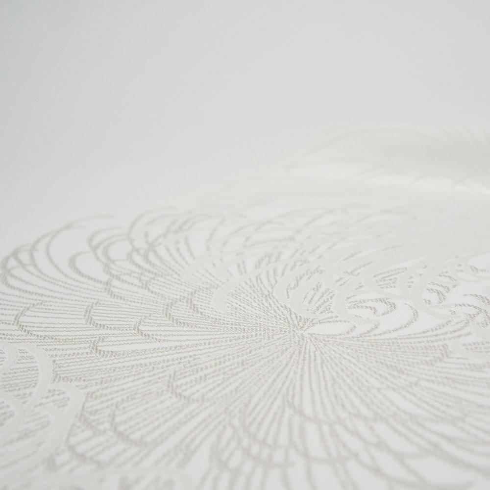 白生地 【銀通し】反物 未仕立品 高級丹後ちりめん 日本製 大鳳縮緬 本場の優美な品やかさは、お召になる方を輝かせます!【古典菊柄】色無地 ぼかし附下 【三丈】si2005