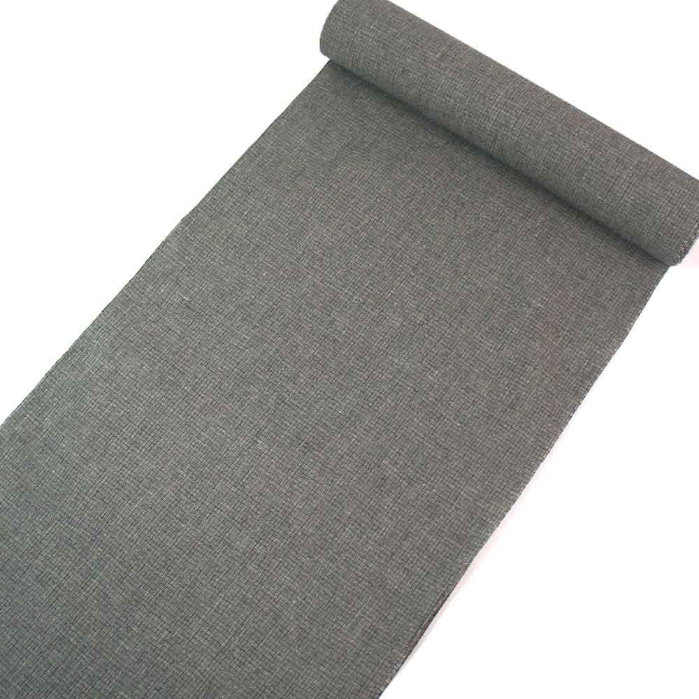 浴衣反物 大人シック柄 お仕立付き 男女兼用 綿麻 薄い灰海松色に細かい石畳柄 yu22020