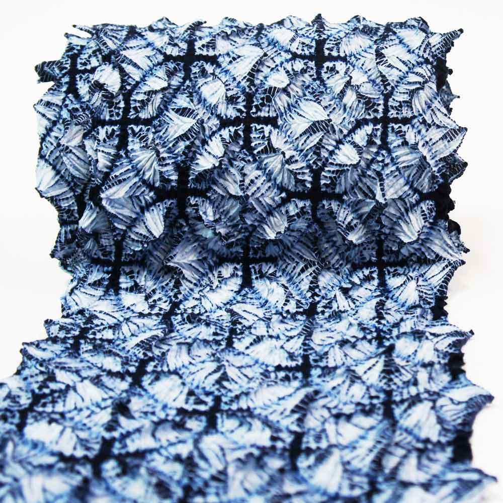 有松絞り浴衣 反物 本場 【新作 長く着られる粋な柄】【七宝柄 藍紺×薄藍】 未仕立品 ゆかた 絞り しぼり 高級木綿 【お仕立承ります】 日本製 yu32002