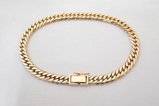 K18YG 喜平 キヘイ ついに再販開始 ブレス 6面ダブル 通常便なら送料無料 20.4g ゴールド 6面 中古 ダブル 19cm