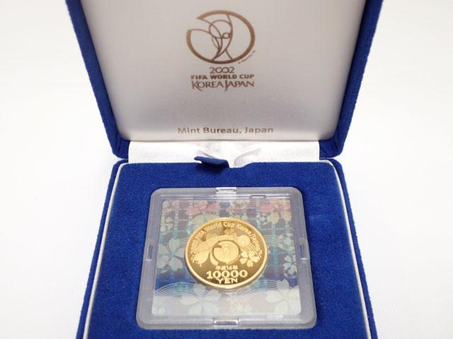 2002年 FIFAワールドカップ記念貨幣 1万円プルーフ金貨【中古】【金貨】【K24】【記念コイン】
