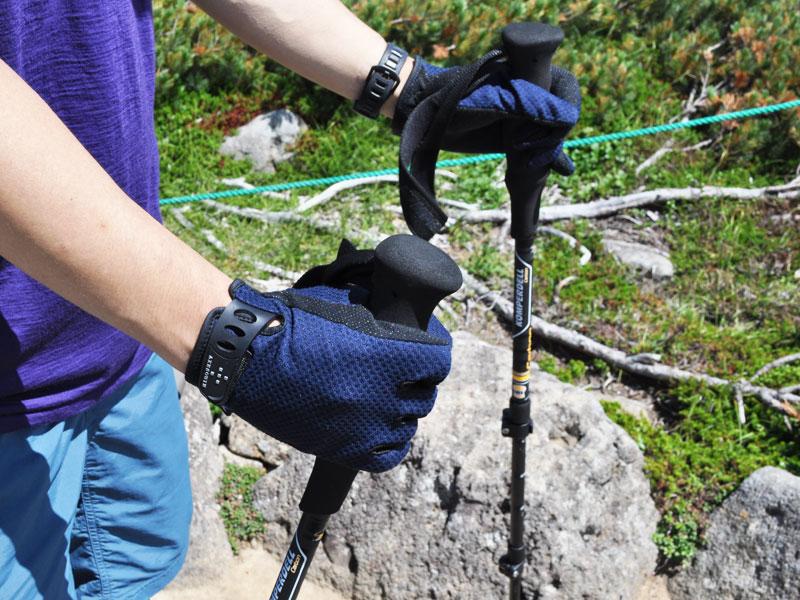 AXESQUIN - UVメッシュグローブ [アクシーズクイン メンズ&レディース ユニセックス UV Mesh Glove 登山・ハイキング UVカット 手袋]