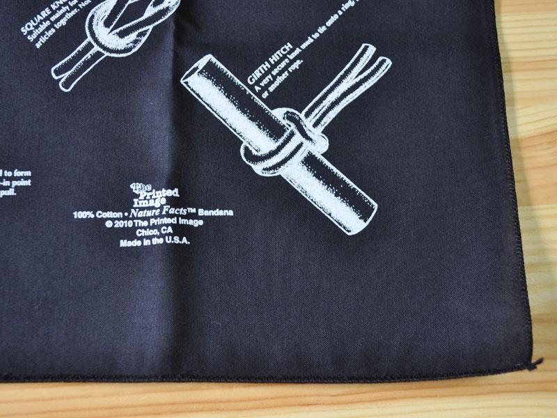 The Printed Image Nature Facts Knot Bandana