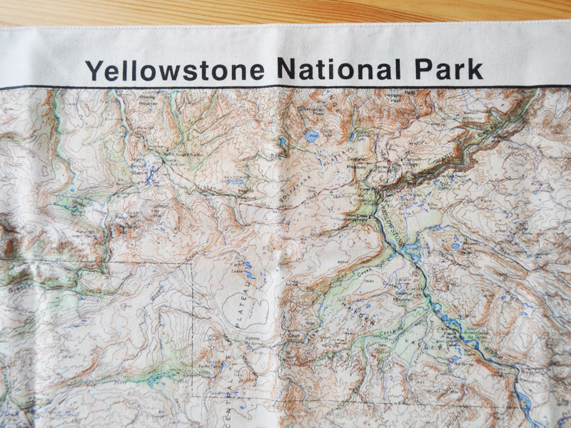 Topographic Map Of Yellowstone.Sokit The Printed Image Yellowstone Topo Bandana The Printed