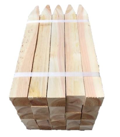 激安卸販売新品 測量用品 土木用品 杭 大人気! 建築用品 木杭 測量杭45×45×450mm 25本