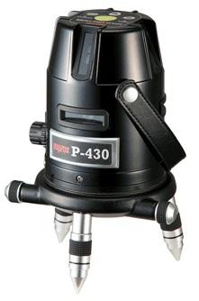 防塵 防滴 時間指定不可 永遠の定番モデル 高輝度のフルラインレーザー受光器にも対応 フルラインレーザー墨出し機P-430
