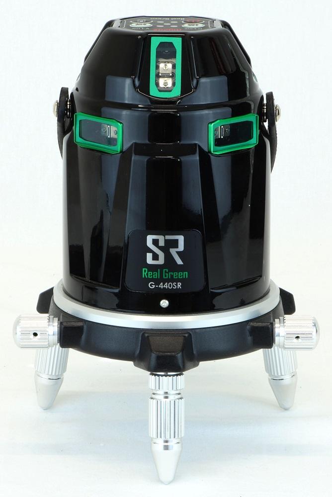 ★新商品★電子自動整準リアルグリーンラインレーザー墨出器 G-440SR 本体セット 電子自動整準採用で揺れに強い