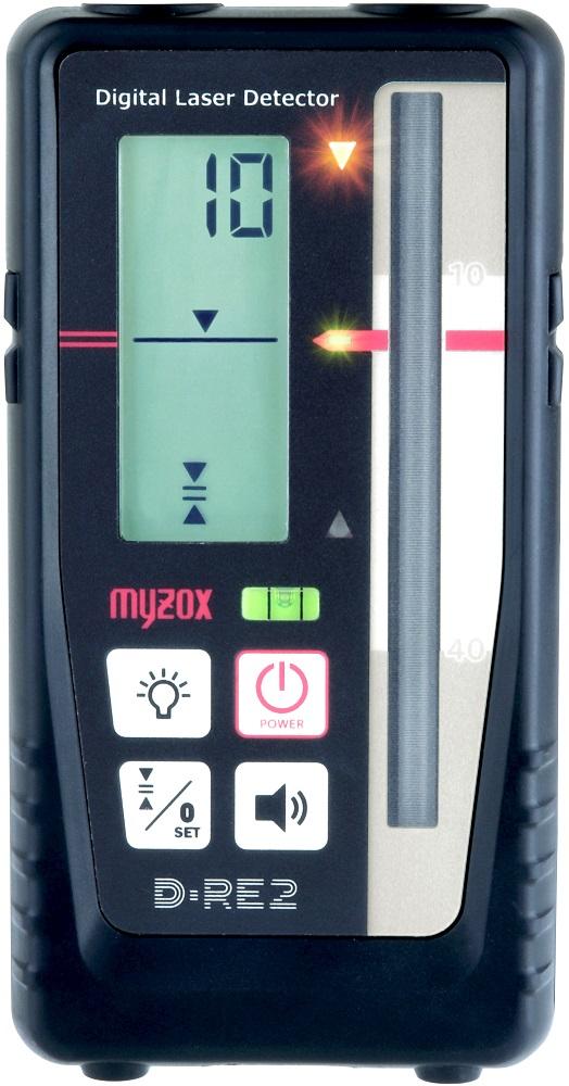 レーザーレベル用デジタル0セット受光器ロッドクランプのセット自動製準レーザーレベルMJ-300完全対応新機能を追加してパワーアップした新商品 ★新商品★レーザーレベル用デジタル0セット受光器クランプセットD-RE2/D-RC