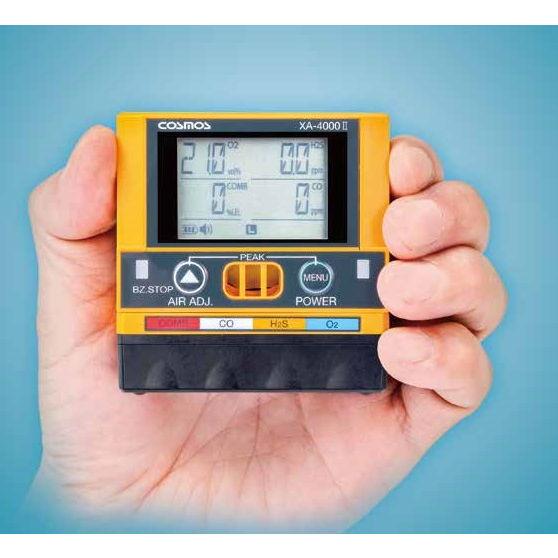 新コスモス電機 複合型ガス検知器 新型 XA-4400II 4ガスタイプ (可燃性ガス(メタン) / 酸素 / 硫化水素 / 一酸化炭素)