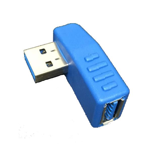 PC横のUSB出っ張りをこれで方向転換 USB3.0 送料無料激安祭 TypeA USB方向転換プラグ お買得 左向きL型 中継アダプター L型 メス-オス 90度 メール便対象商品