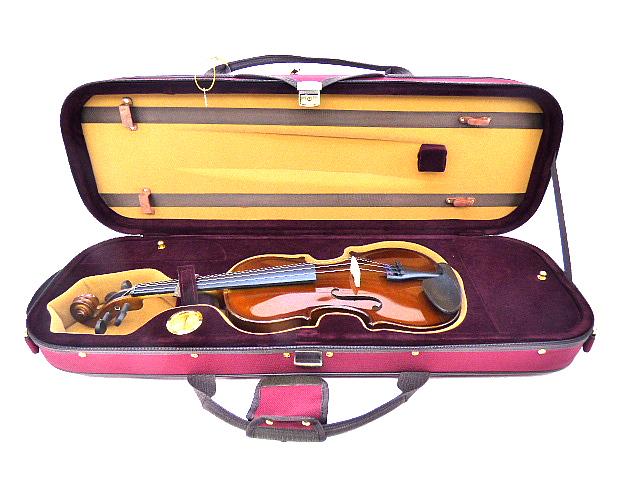 Quality バイオリンケース 3/4 レッド