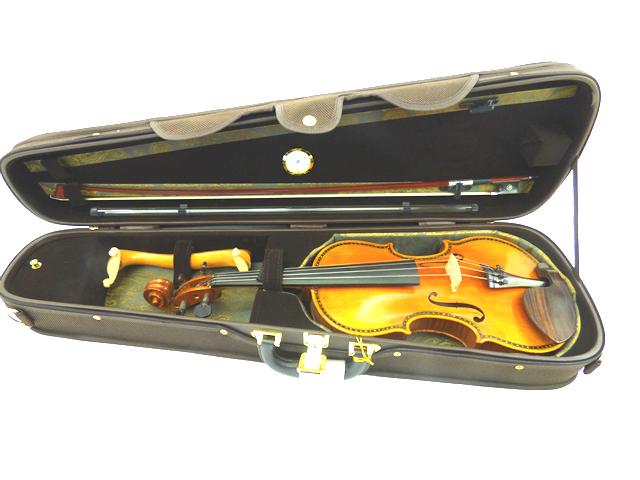 Deluxe Violin Hard Case Brown バイオリンケース (シェイプタイプ)