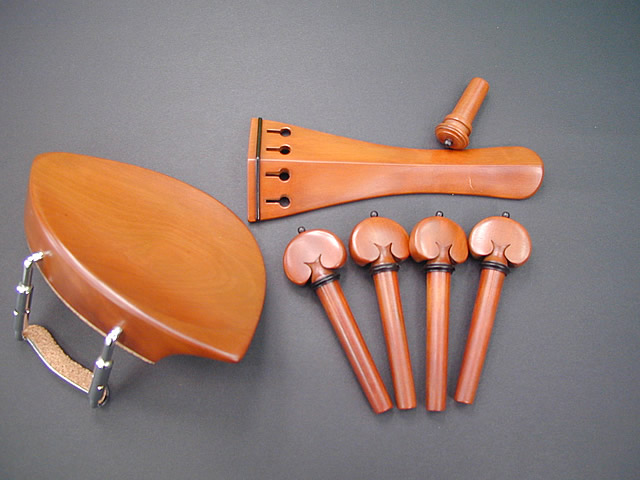 Violin Fitting set Boxwood Kaufman Black
