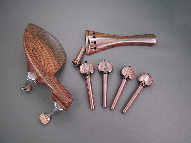 Violin Fitting set Rosewood Guaruneri