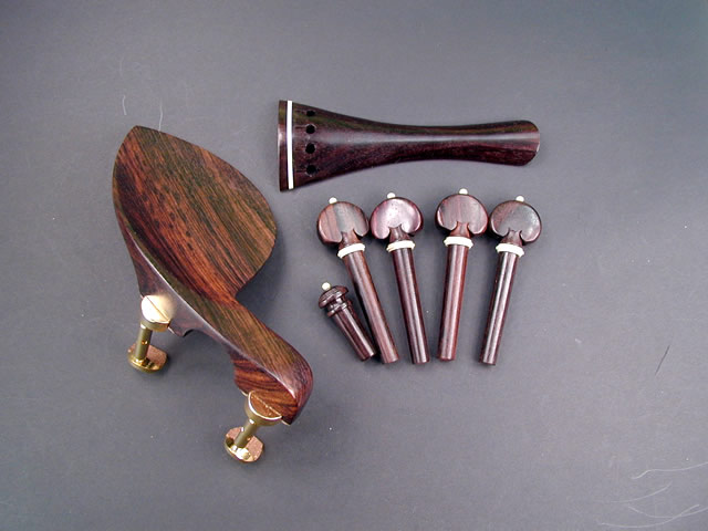 Violin Fitting set Rosewood White Hill Guaruneri