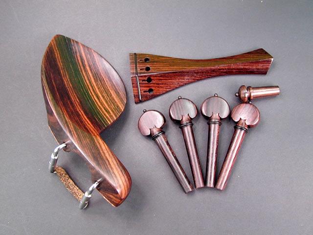 Violin Fitting set Rosewood Guaruneri(Regular/CR) Black fret