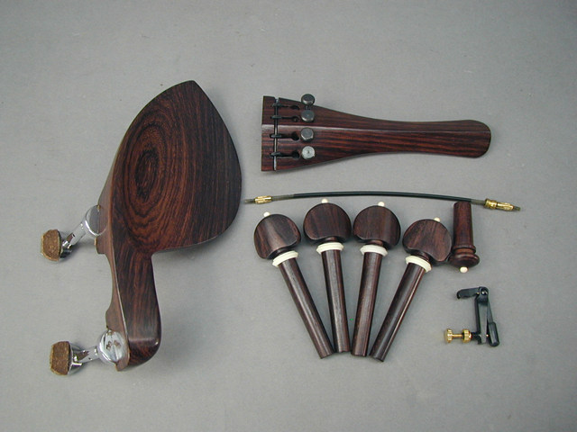 Violin Fitting set Guaruneri BoneBuillt-in Adjuster Hill Model