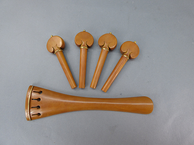 Cello Fitting set BoxwoodGold Model French Tailpiece