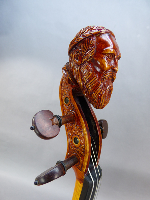 Man Head ViolinSnakewood Fittings