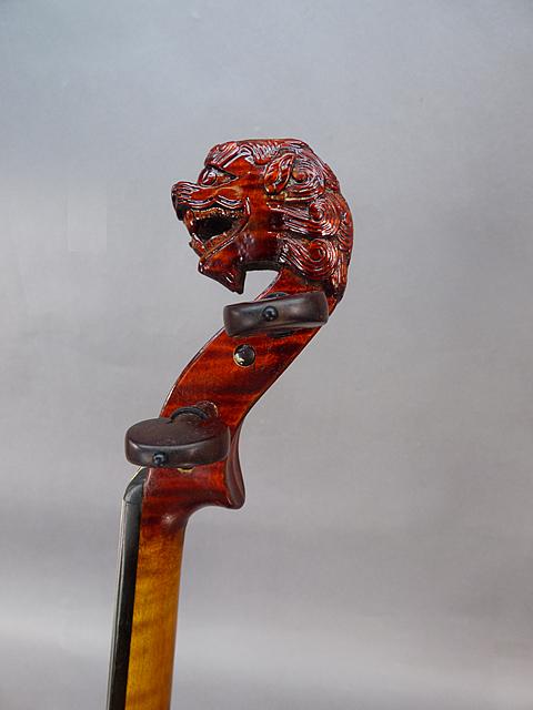 Lion Head ViolinSnakewood Black Fret