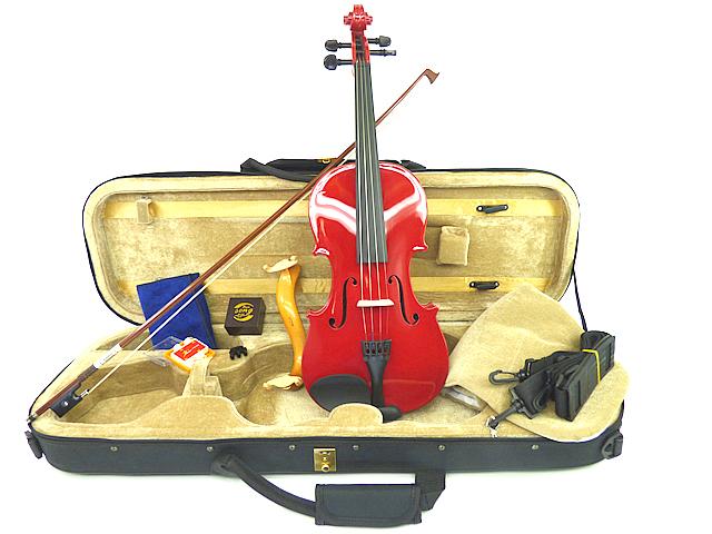 カラーバイオリン Premium Set  Red